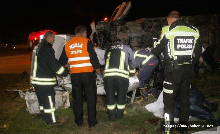 Fethiye'de feci kaza; 2 ölü, 1 yaralı