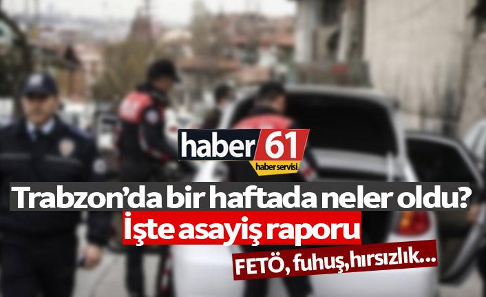 Trabzon'da bir haftada neler oldu?