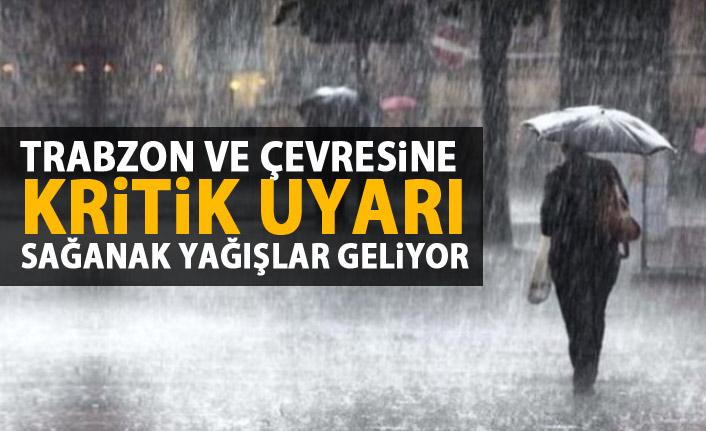 Trabzon ve çevresine sağanak yağış uyarısı