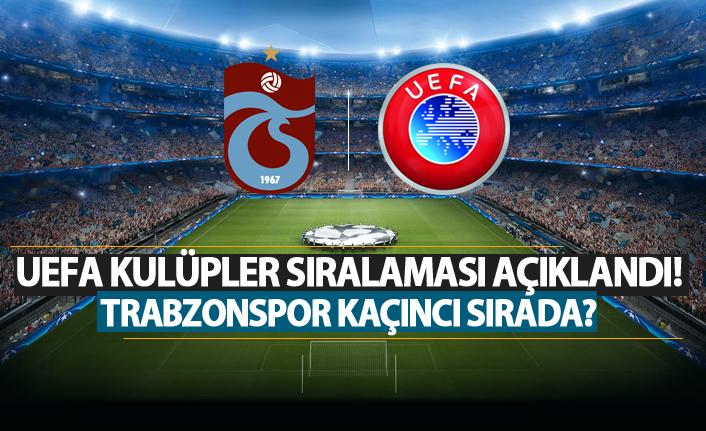 UEFA Güncel Kulüpler Sıralaması Açıklandı! Trabzonspor kaçıncı oldu?