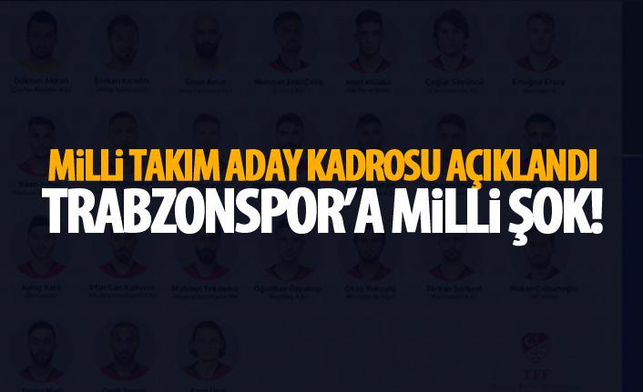 Aday kadro açıklandı! Trabzonspor'a milli şok!