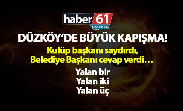 Düzköy'de büyük kapışma! Kulüp başkanı saydırdı, Belediye Başkanı cevap verdi…
