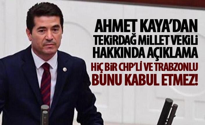Ahmet Kaya'dan İlhami Özcan Aygün açıklaması