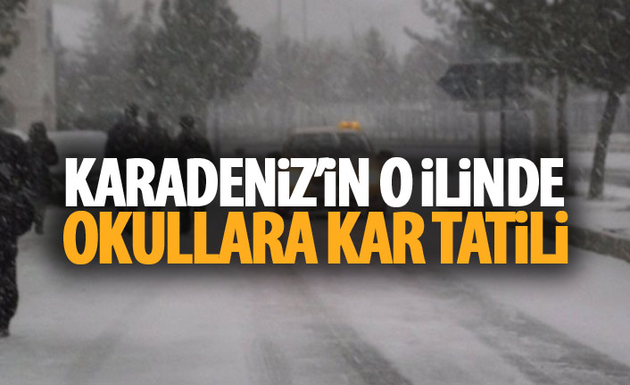Karadeniz'in o ilinde okullara kar tatili