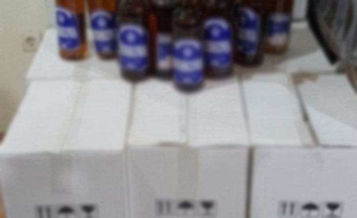 Manavgat'ta kaçak içki ele geçirildi