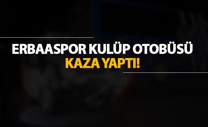 Erbaaspor kulüp otobüsü kaza yaptı!