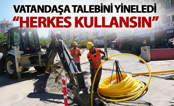 Başkan Gümrükçüoğlu talebini yineledi