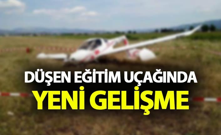 Eğitim uçağı düştü