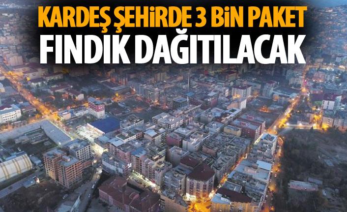 Kardeş şehirde 3 bin paket fındık dağıtılacak