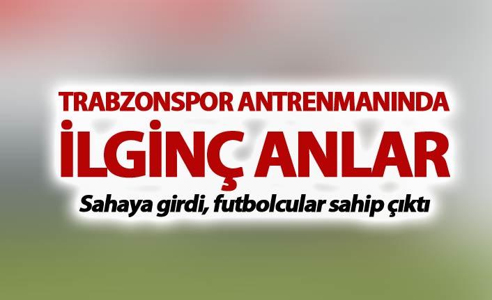 Trabzonspor antrenmanında ilginç anlar
