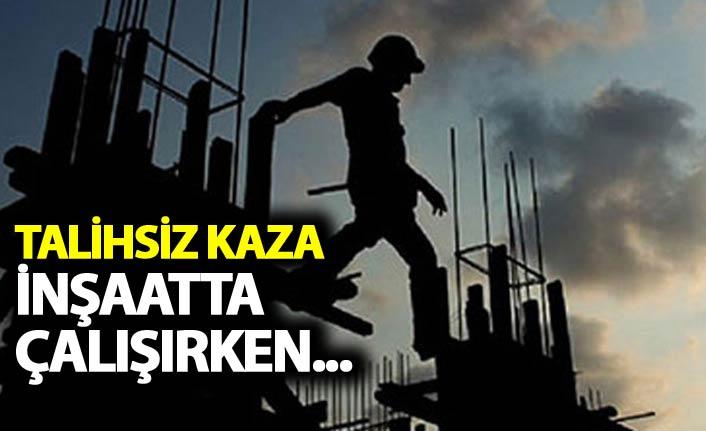 Rize'de talihsiz kaza - inşaatta çalışırken...