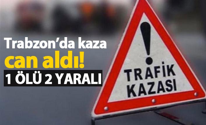 Trabzon'da araç ormanlık alana yuvarlandı: 1 ölü 2 yaralı