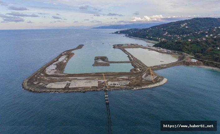 Rize - Artvin Havaalanı inşaatında çalışmaları sürüyor