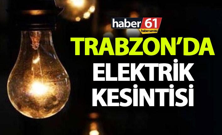 Trabzon'da elektrik kesintisi