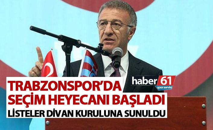 Trabzonspor'da seçim heyecanı başladı! Listeler teslim edildi!