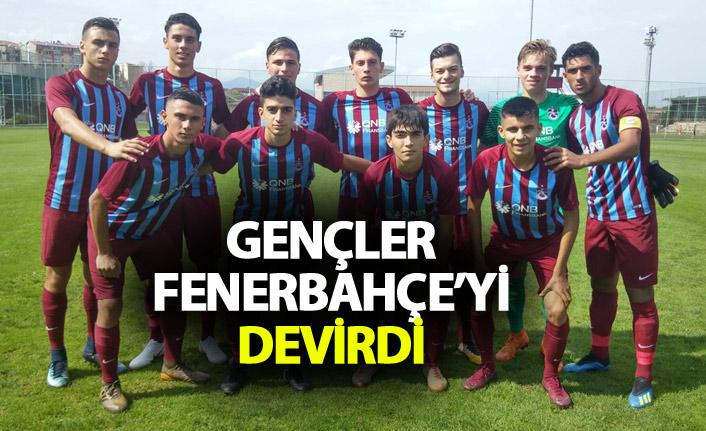 Trabzonspor'un gençleri Fenerbahçe'yi mağlup etti