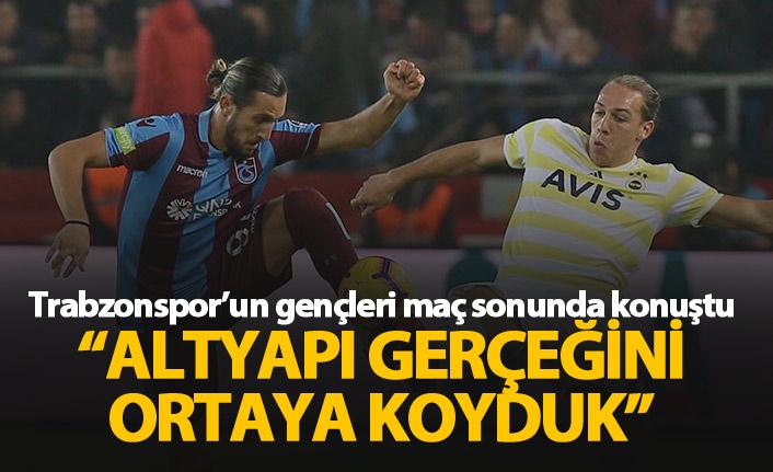 Trabzonspor'un gençlerinden altyapı vurgusu