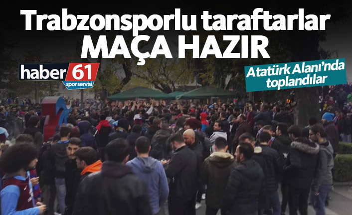 Trabzonsporlu taraftarlar Fenerbahçe maçına hazır