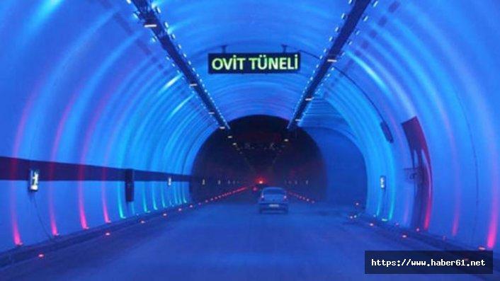 Ovit Tüneli'ne 6 baca takıldı