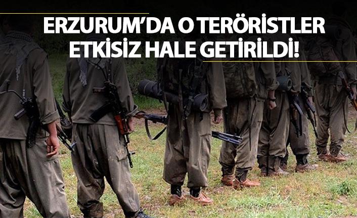 Erzurum'da o teröristler etkisiz hale getirildi!