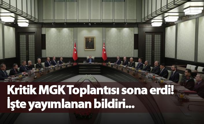 Kritik MGK toplantısı sona erdi!