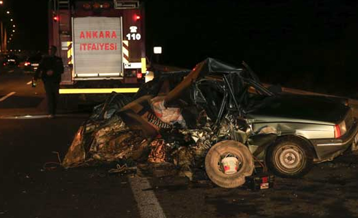 Ankara'da kaza: 2 ölü 1 yaralı