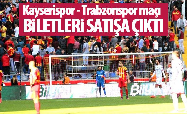 Kayserispor Trabzonspor maçı bilet fiyatlarını açıkladı