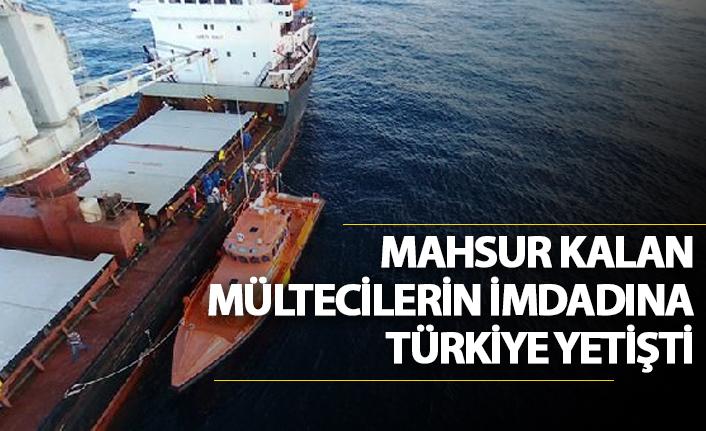 Mahsur kalan mültecilerin imdadına Türkiye yetişti