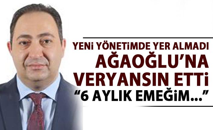 Ahmet Ağaoğlu'na eski yöneticisinden veryasın: 6 aylık emeğimizin karşılığı
