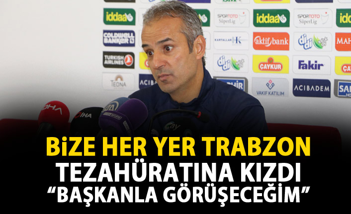 Trabzon tezahüratı İsmail Kartalı kızdırdı