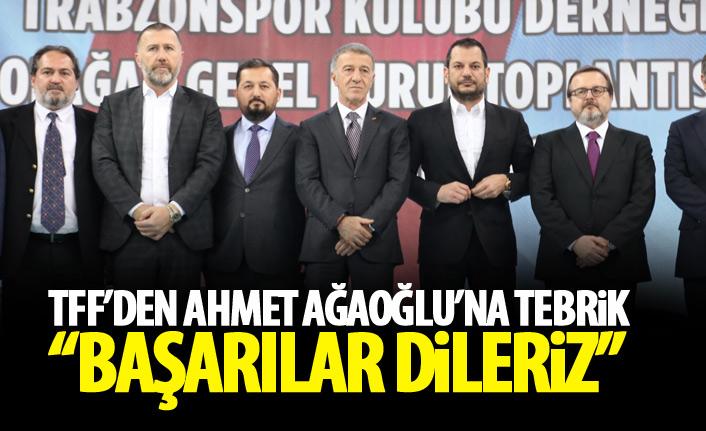 TFF'den Ağaoğlu'na tebrik