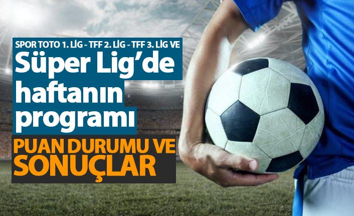 Spor Toto Süper Lig'de 14. haftanın programı ve Süper Lig puan durumu