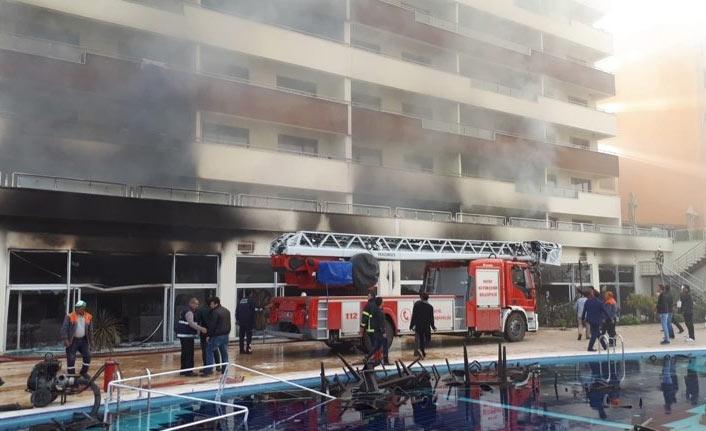 Termal otelde çıkan yangın itfaiye ekipleri tarafından söndürüldü
