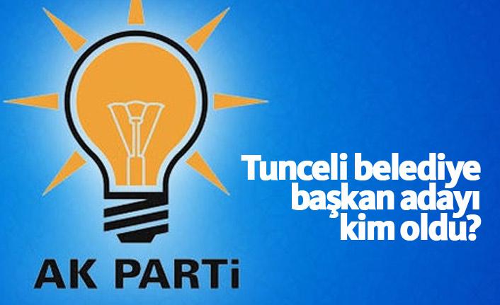 AK Parti Tunceli Belediye Başkan Adayı Gökhan Arslan oldu