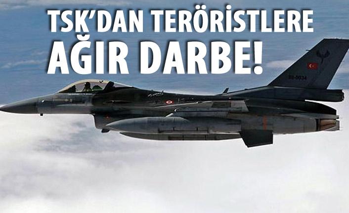 TSK'dan teröristlere ağır darbe
