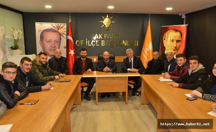 Of Belediye Başkanı Sarıalioğlu, AK Partili gençlerle buluştu
