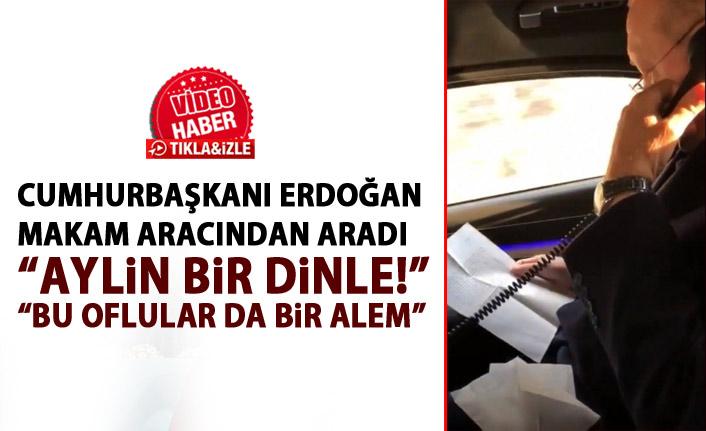 """Cumhurbaşkanı Erdoğan mektubu aldı! Makam aracından aradı """"Bu oflular da bir alem"""""""