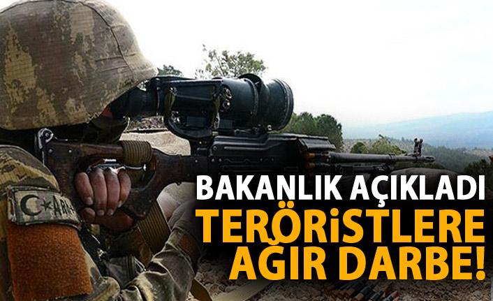 Bakanlık açıkladı! 1 haftada 26 terörist