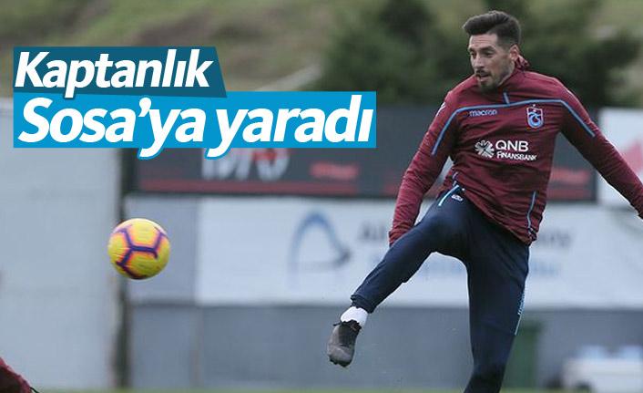 Trabzonspor'da Sosa'ya kaptanlık yaradı