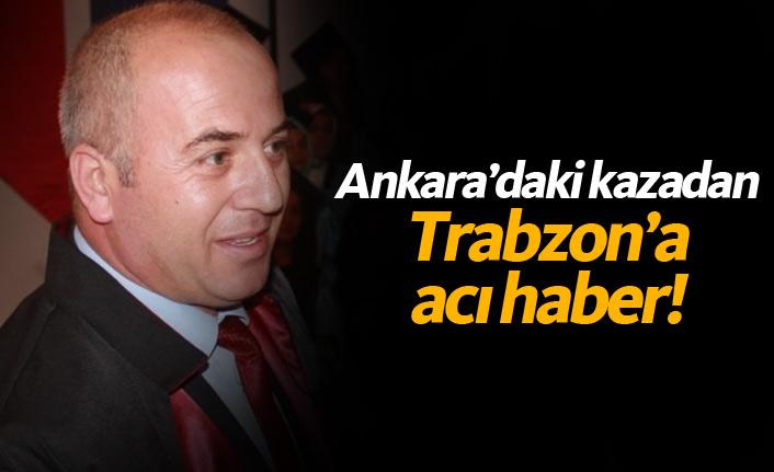 Ankara'daki tren kazansından Trabzon'a acı haber