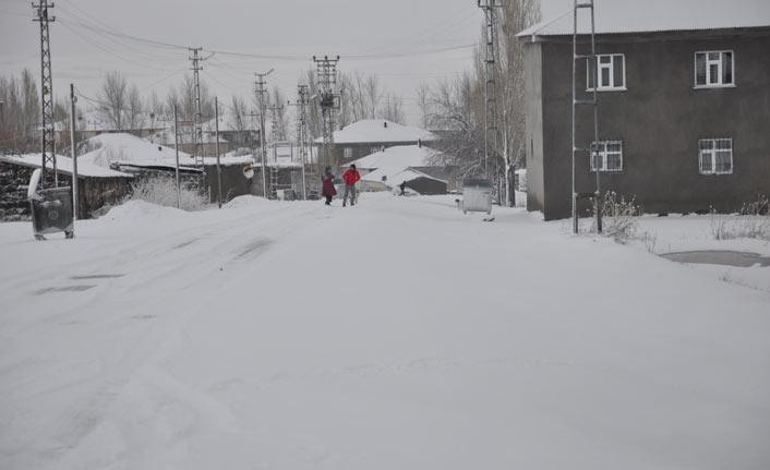 Bulanık'ta kar hayatı olumsuz etkiledi