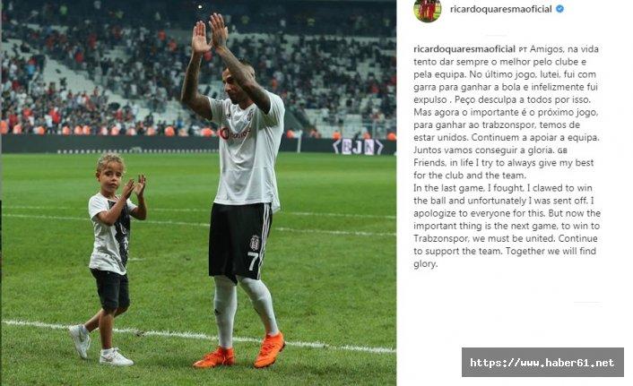 Quaresma Trabzonspor maçı için çağrı yaptı