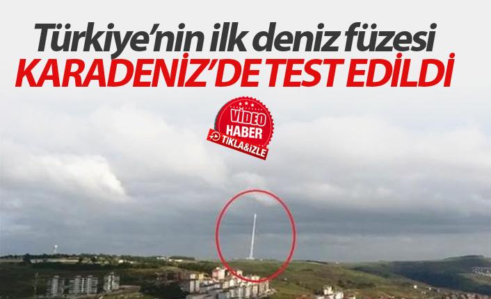 Türkiye'nin ilk deniz füzesi Karadeniz'de test edildi