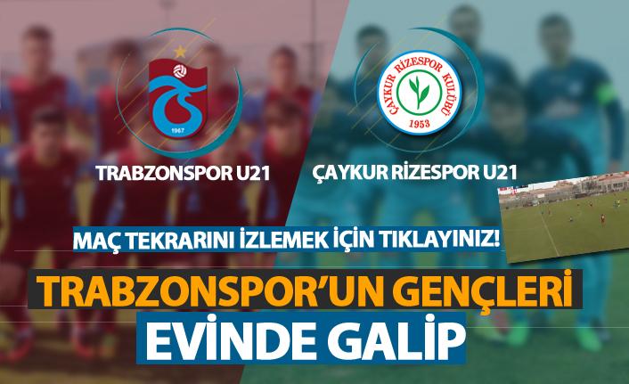 Trabzonspor U21 Çaykur Rizespor U21 takımını mağlup etti