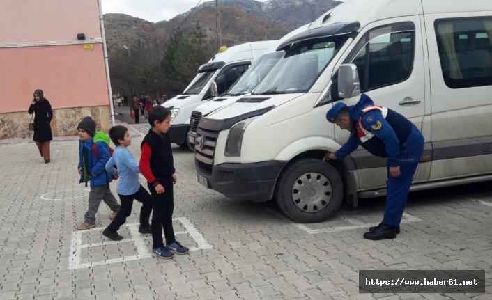 Gümüşhane Jandarma'dan trafik denetimi