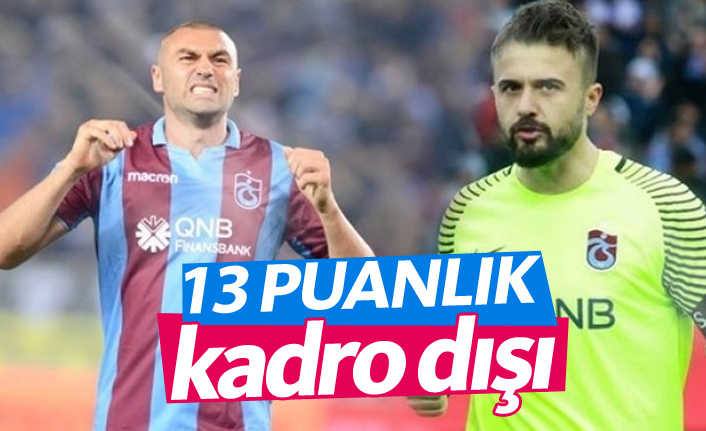 Trabzonspor'dan 13 puanlık karar!
