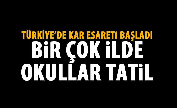 Kar Türkiye'yi esir alıyor! Bir çok ilde okullar tatil edildi!
