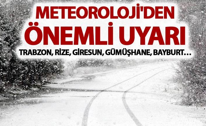 Meteoroloji'den önemli uyarı - Doğu Karadeniz'de...
