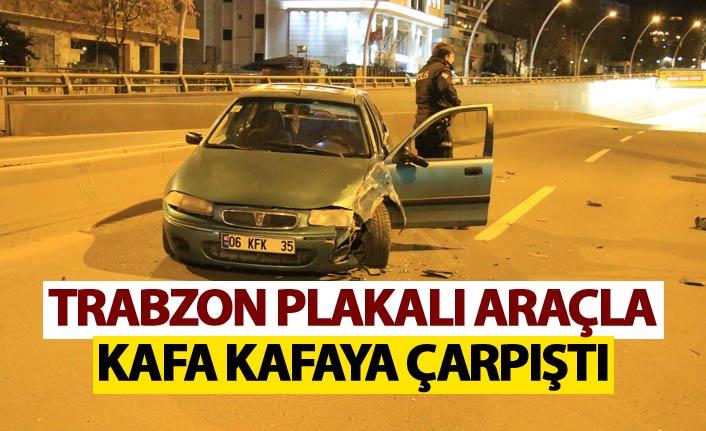 Ters yöne gridi - Trabzon plakalı araçla kafa kafaya çarpıştı