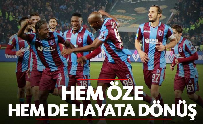 Trabzonspor hem öze hem de hayata döndü